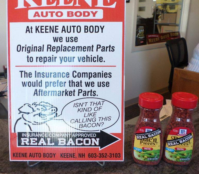 New Hampshire Body Shop Owner Uses Bacon to Educate Customers