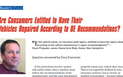 Are Consumers Entitled to Have Their Vehicles Repaired According to OE Recommendations?