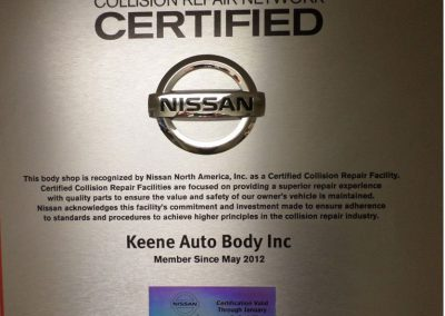 Nissan Collision Repiar Network Certified