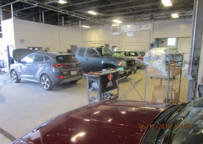 Inside Keene Auto Body Shop